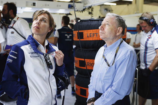 Claire Williams og Jean Todt