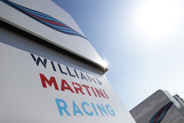 Barcelona pre-season test 2 - Williams Martini Racing Motorhome
